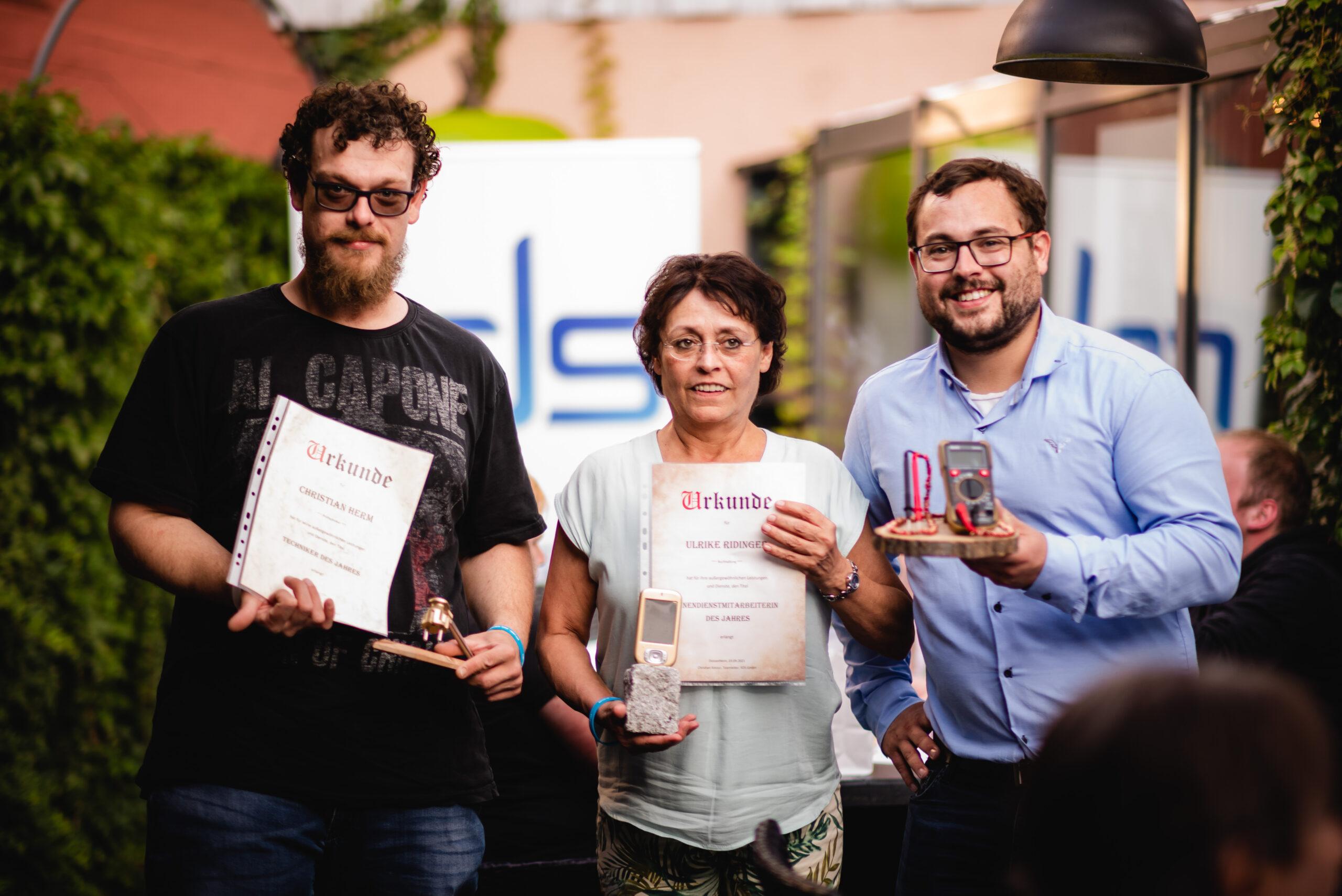 Auszeichnungen der Mitarbeiter